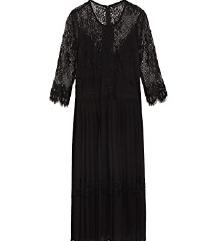 NOVA  ZARA cipkasta plisirana haljina