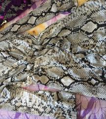 Haljina sa zmijskim printom