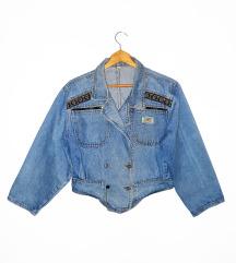 80's retro teksas jakna