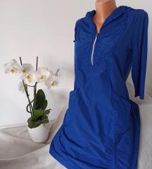 GINALAURA kraljevsko plava haljina vel S