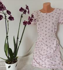 Roze viskozna haljina sa sidrima vel S/M