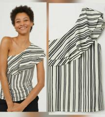 H&M one Shoulder striped