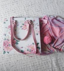 Roze cvetna tašnica, torba