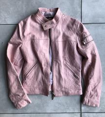 Max Leather puder roze kožna jakna