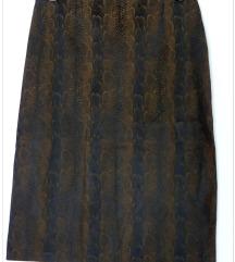 Suknja animal print, L veličina