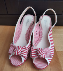 Retro prugaste sandale na plutu