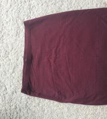 Basic H&M bordo suknjica