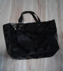 Nova crna geometric mozaic torba