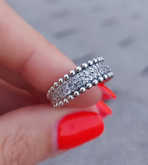 Pandora prsten pavé sa perlicama za nizanje