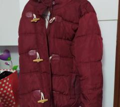 Teranova jakna bordo krznena