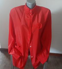 Crvena vintage košulja,42/ 44,  NOVO