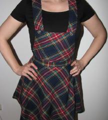 Škotski dezen haljina na tregere-postavljena S/M