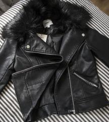 Koton faux leather jakna, s krznom, vel. 34