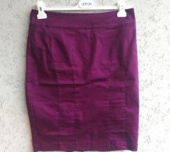 Ljubicasta suknja H&M (high waist)