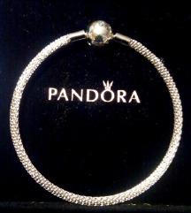 Pandora mesh Logo narukvica, NOVO