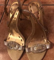Srebrne sandale sa strasom