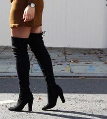 Crne cizme preko kolena 41