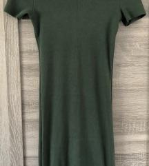 Zara tamnozelena haljina