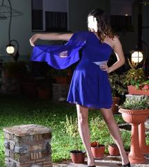 RASPRODAJA 1500!Kraljevsko plava mini haljina