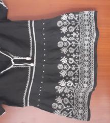 Crna bluzica sa vezom