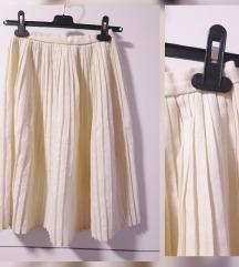 Midi suknja sa zlatnim nitima