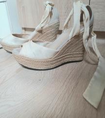 Sandale espadrile na platformu