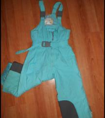 Ski pantalone poluskafander zelene vel.3-4