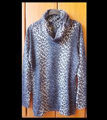 Bluza-tunika leopard crno-siva