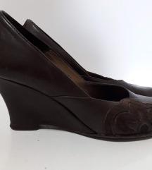 Braon kožne cipelice