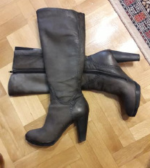 SALAMANDER kozne sivobraon duboke cizme 40