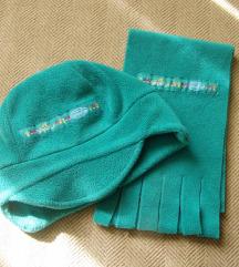 Komplet zeleni šal i kapa