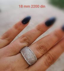 prsten 18mm 925