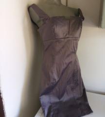 Pompaus girly siva haljina M