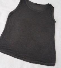 Siva mramorna majica bez rukava
