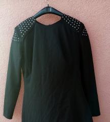 Crna haljina sa nitnama L