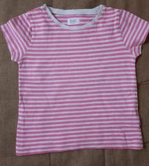 F&F roze bela majica