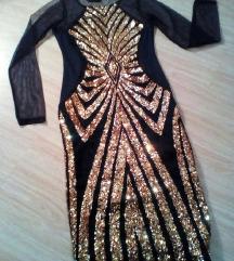 Crna haljina sa sljokicama - NOVO SA ETIKETOM