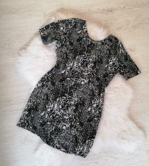 H&M crno bela haljina