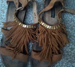 Sandale Camel kožne