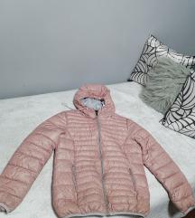 Nude roze bomber jakna L/XL