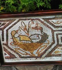 Mozaik u prekrasnom drvenom okviru 47 x 38 cm