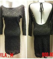 Cipkana crna haljina