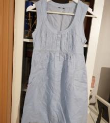 Plava lanena haljina