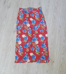 Vintage maksi suknja na cvetove