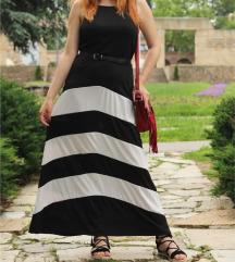 Crno Bela letnja haljina NOVA