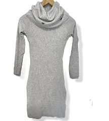 Siva pamučna haljina sa elastinom univ