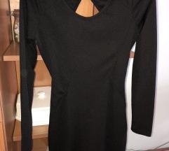 Crna kratka haljinica S/36