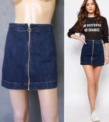 Pull&Bear teksas suknja sa zipom