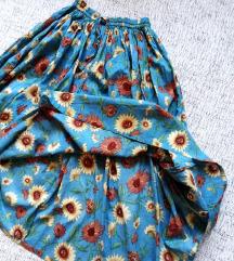 Duga boho suknja sa suncokretima