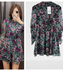 Zara floral print haljina sa karnerima✨NOVO